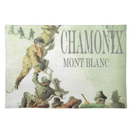 Vintage France, Chamonix, Mt Blanc Place Mat