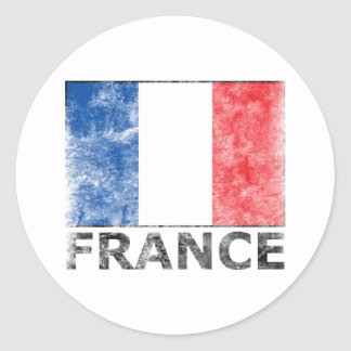 Vintage France Classic Round Sticker
