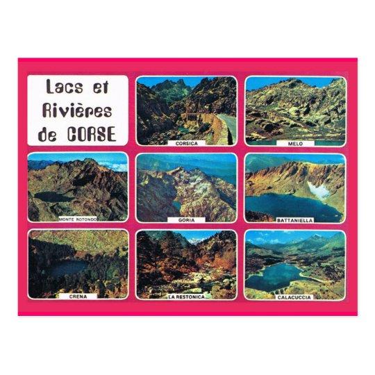 Vintage France Corsica, Lakes and RIvers Postcard