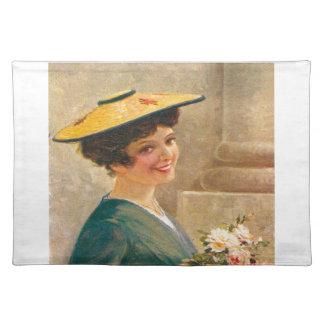 Vintage France, Flower seller, Cote d'Azur Place Mat