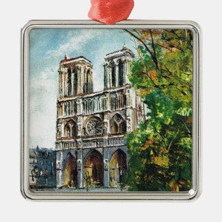 Vintage France, Notre Dame de Paris Christmas Ornament