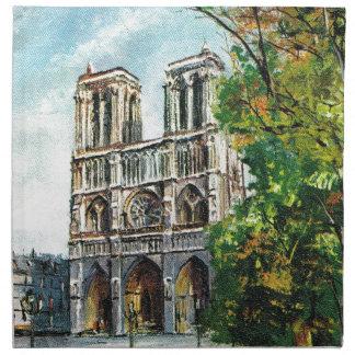 Vintage France, Notre Dame de Paris Napkin