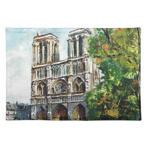 Vintage France, Notre Dame de Paris Place Mat