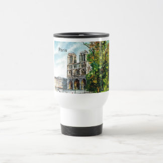 Vintage France, Notre Dame de Paris Travel Mug