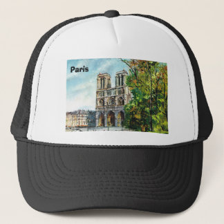 Vintage France, Notre Dame de Paris Trucker Hat