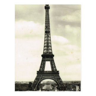 Vintage France, Paris,  Eiffel Tower Postcard