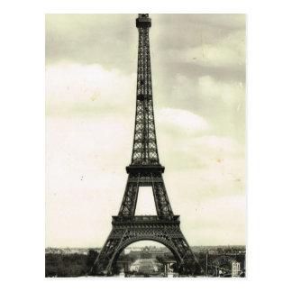 Vintage France, Paris,  Eiffel Tower Postcard