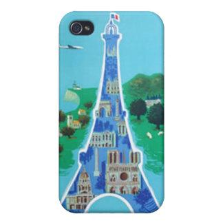 Vintage France Paris  iPhone 4 Cases