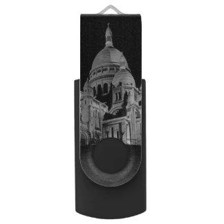 Vintage France Paris Sacre Coeur Basilica USB Flash Drive