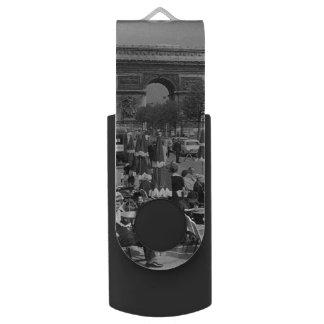 Vintage France Paris Triumphal arch USB Flash Drive