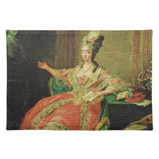 Vintage France, Regency, fashionable lady Placemat