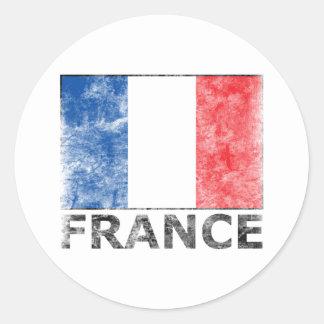Vintage France Round Sticker