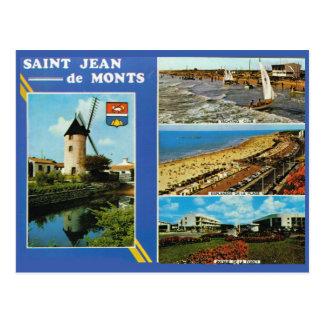 Vintage France St Jean de Monts 2 Postcard
