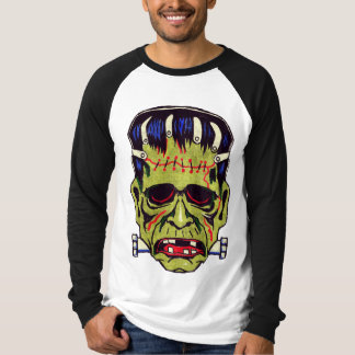 Vintage Frankenstein Mask Long Sleeve Raglan T-Shirt
