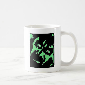 Vintage Frankenstein Monster Green Black Retro Coffee Mug
