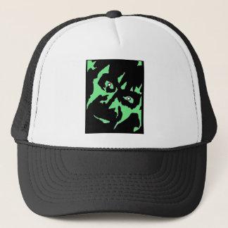 Vintage Frankenstein Monster Green Black Retro Trucker Hat