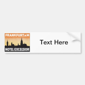 Vintage Frankfurt Germany Hotel Bumper Sticker