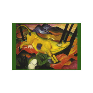 Vintage Franz Marc The Yellow Cow Canvas Print