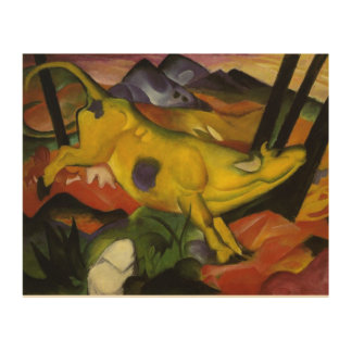 Vintage Franz Marc The Yellow Cow Wood Print