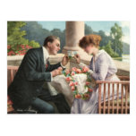 Vintage Frau und Herr, Liebe Postkarten