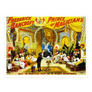 Vintage Frederick Bancroft Prince of Magicians Postcard