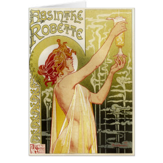 Vintage French Absinthe Advertisement Card