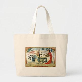 Vintage French Ad - Chapelleries1890 Jumbo Tote Bag
