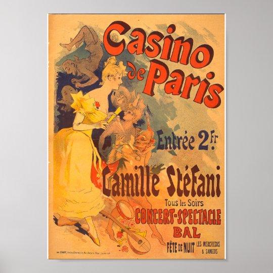 Vintage French Advertising Casino de Paris 1891 Poster