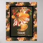 Vintage French advertising, Cirio fruit Poster