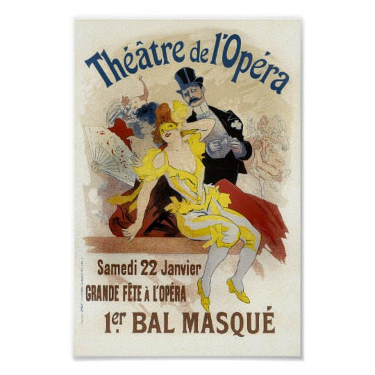 Vintage French Advertising Theatre de L'Opera Poster
