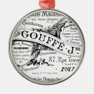 vintage french advertising typography christmas ornament