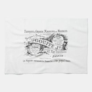 vintage french advertising typography tea towel