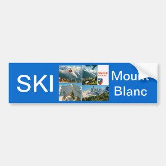 Vintage French Alps, Chamonix Mt Blanc Bumper Sticker