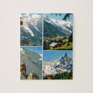 Vintage French Alps, Chamonix Mt Blanc Jigsaw Puzzle