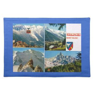 Vintage French Alps, Chamonix Mt Blanc Placemat