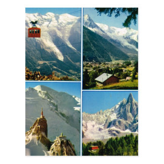 Vintage French Alps, Chamonix Mt Blanc Postcard