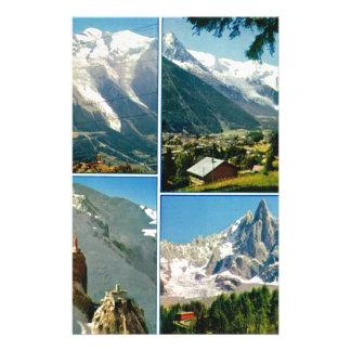 Vintage French Alps, Chamonix Mt Blanc Stationery