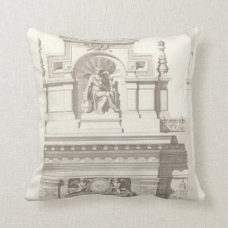 Vintage french architecture catalogue throw pillow