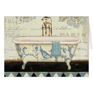 Vintage French Bathtub Card