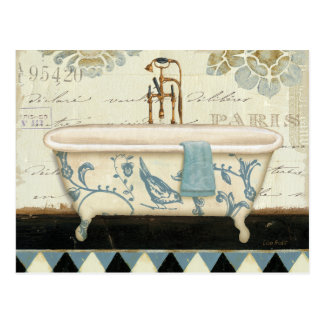 Vintage French Bathtub Postcard