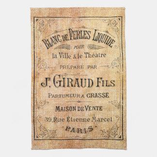Vintage French beauty label Tea Towel