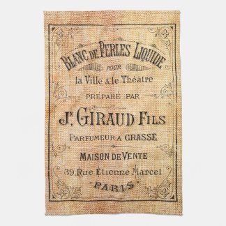 Vintage French beauty label Towel