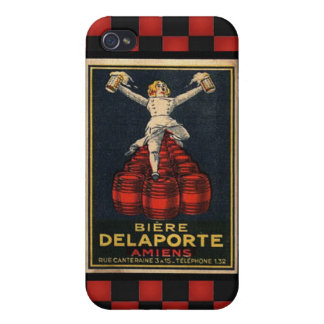 Vintage French Beer Advertising Poster Design iPhone 4 Covers