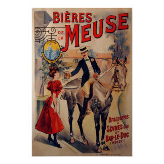 Vintage French Beer Advertisment Poster