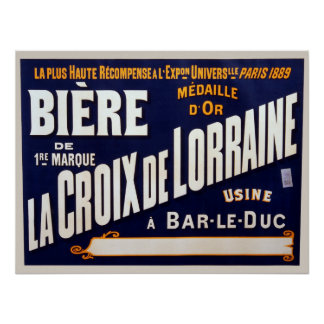 Vintage French Beer Advertisment Poster