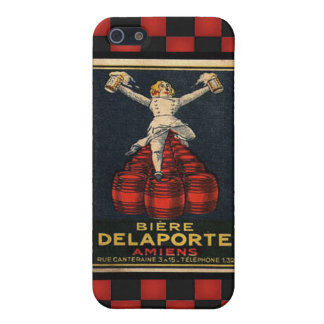 Vintage French Beer Retro Alcohol Advertising Case For iPhone 5/5S