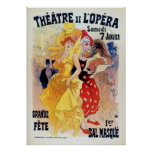Vintage French belle époque masquerade ball ad Poster