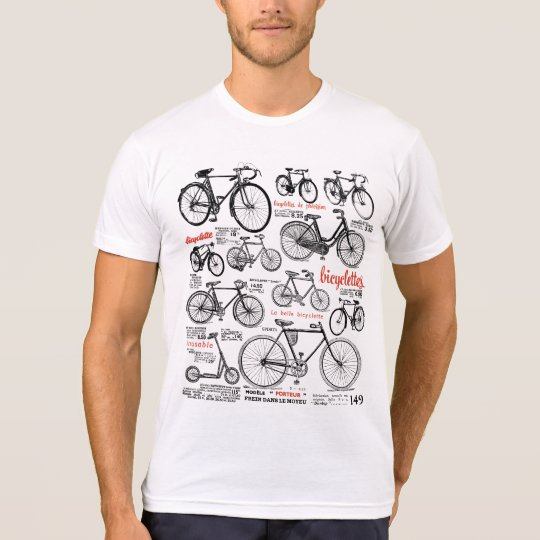 Vintage French Bicycle Catalogue Ad Design T-Shirt