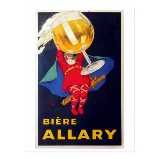 Vintage French Biere Allary by Jean D'Ylen Postcard