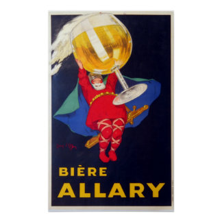 Vintage French Biere Allary by Jean D'Ylen Poster